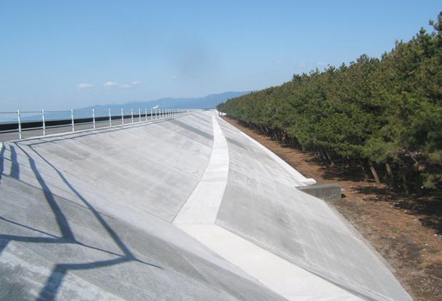 平成21年度 富士海岸吉原工区 柏原地区堤防被覆工事