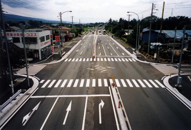 国道246号矢場居交差点改良工事